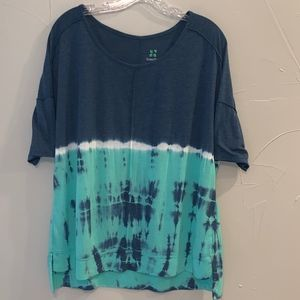 GreenTea Blue/Teal Tie-Dye T-Shirt, Size L